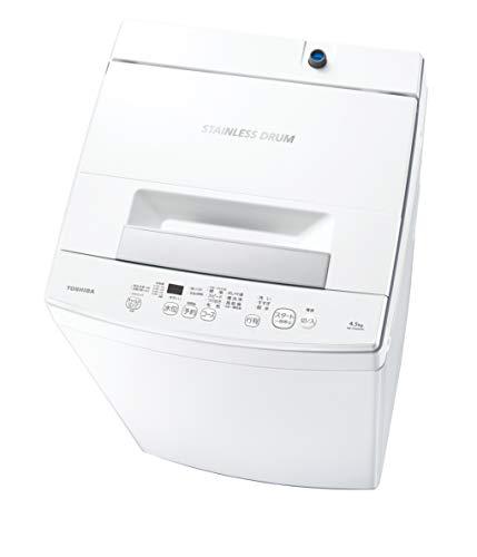 東芝 洗濯機 4.5kg 一人暮らし Wシャワー AW-45M9-W ピュアホワイト