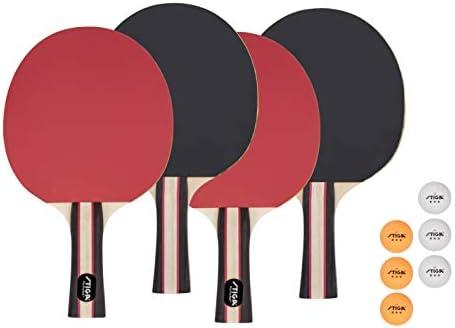 STIGA Performance Table Tennis Set 4 Player Set Red Black Model T1365 product image