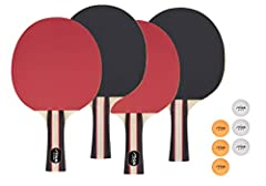 Four performance rackets and six 3-star balls (three white/three orange) USA Table Tennis (USATT) approved Racket rubber is inverted for increased ball control and added spin 3-star balls meet ITTF regulations for tournament play 90-day on manufactur...