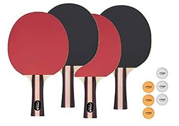 STIGA Performance Table Tennis Set  4 Player Set  Red/Black Model T1365