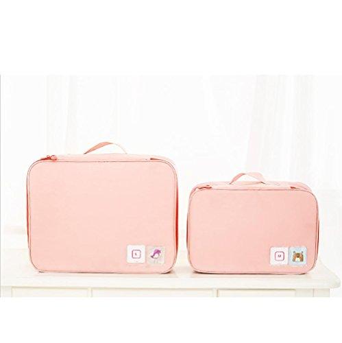 Nylon Sac de lavage portable Make Up Cosmetics Bag Case Organiseur de toilette Stockage pour femmes et hommes , Pink