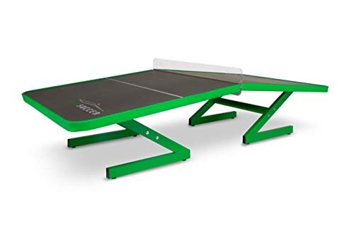 AirSoccer FutTable Aluminum PRO #1 - Perfect Angle - Safe Rubber Protection - Acrylic Net - All Weather Resistant Made in Aluminum and Engineer Materials - Teqball Style - Air Soccer Table