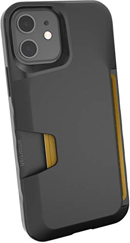 Smartish iPhone 12/12 Pro Wallet Case - Wallet Slayer Vol. 1 [Slim + Protective] Credit Card Holder (Silk) - Black Tie Affair