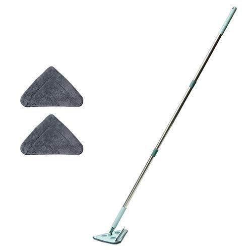 AADEE Lazy Cleaning Mop, Driehoek Uitschuifbare vervangbare Chenille Cleaning Mop, 360 graden draaibaar verstelbaar…