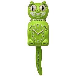 Kit Cat Klock Limited Edition Light Green Swarovski Crystals Jeweled Clock