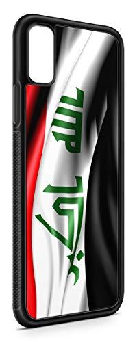 Kompatibel mit iPhone XR Silikon Handyhülle Flexibles Slim Case Cover Irak Fahne Flagge Schwarz