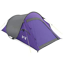 EASY TO PITCH & PERFECT FOR SUMMER CAMPING: Lightweight to carry and a breeze to pitch, the Trail 2-Person Pop-Up Tent is a top choice for short trips and festival adventures. It delivers perfect protection from light, summer showers and has a pitche...