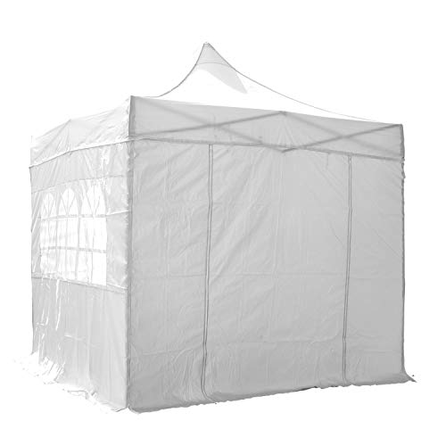 AIRWAVE 3x3m Waterproof White Pop Up Gazebo - Stunning Outdoor Marquee Tent with 4 Leg Weight Bags & Carry Bag