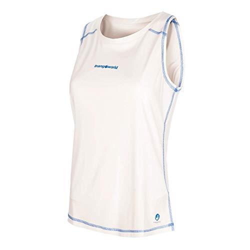 Trangoworld Baells Camiseta, Mujer, Blanco, S
