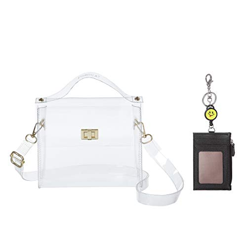 MINICAT Clear Small Crossbody Bags Stadium Approved Cell Phone Purse Wallet For Women(Clear-Horizontal 2)