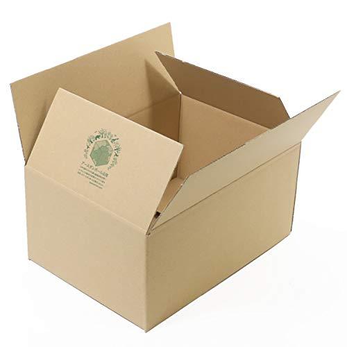 アースダンボール 梱包箱 広告入 宅配80 エコ段ボール 配送用 発送用 120枚 【2072】