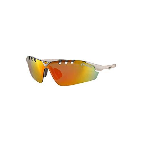 EASSUN Gafas de Running X-Light Sport, Solares Cat 2 o 3, Ultraligeras - Blanco, Rojo Fuego, Cat 3
