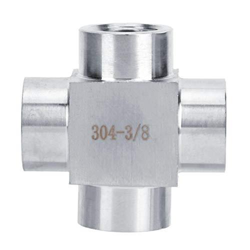 Edelstahl 304 Hochdruck-Innendraht 4-poliger 3/8 Innengewinde-Kreuzkonvertierungsstecker(四通 3 分 3/8)