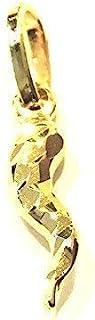 Ciondolo Oro Giallo 18kt (750) Pendente Piccolo Corno Cornetto Mini Portafortuna Uomo Donna Bambini
