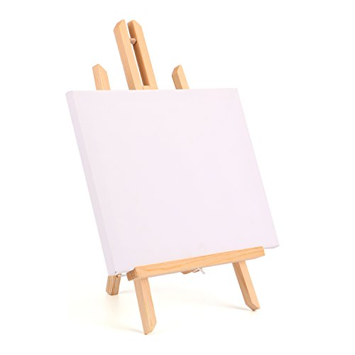 Tosnail Tabletop Canvas & Easel Set Painting Craft Drawing Art Decoration Sets