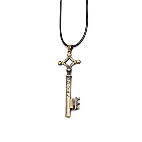 MT Life Eren Key Necklace Anime Shingeki No Kyojin Necklace Anime Jewelry