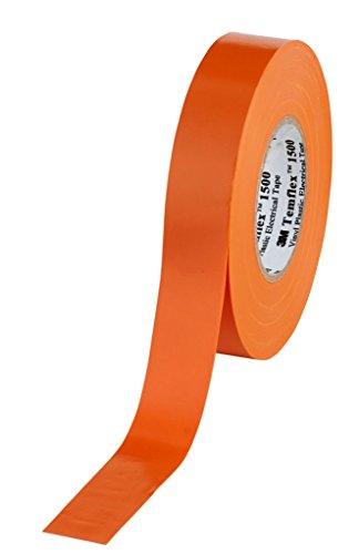 3M TORA1925 Temflex 1500 Vinyl Elektro-Isolierband, 19 mm x 25 m, 0,15 mm, Orange