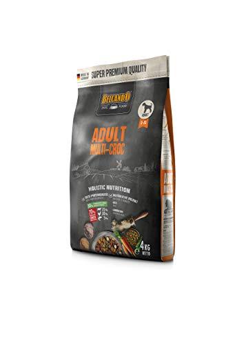 Belcando Adult Multi-Croc | Trockenfutter für Hunde mit Gemüsechips & Nudeln | Alleinfuttermittel für ausgewachsene Hunde ab 1 Jahr (4 kg)