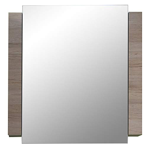 trendteam smart living Badezimmer Spiegelschrank Spiegel Campus, 60 x 80 x 15 cm in Weiß, Eiche San Remo (Nb.) mit viel Stauraum