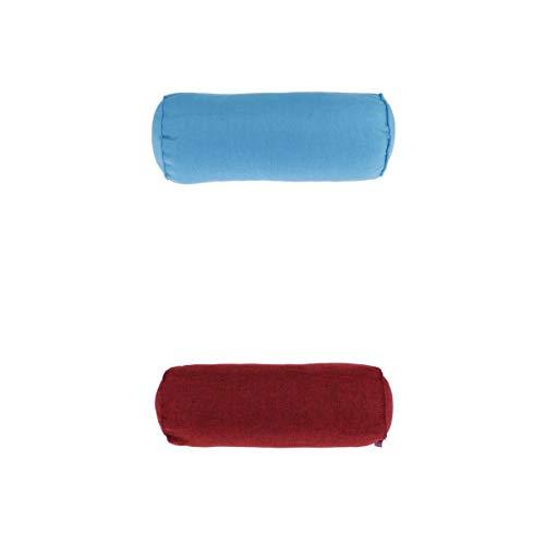 MERIGLARE Viaje Cuello Rollo Soporte Cama Almohada para Dormir Refuerzo Cervical Azul Rojo