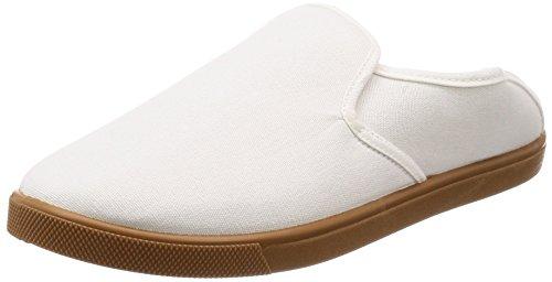 [キタ] 作業靴 スニーカー メガセーフティ 軽作業や室内作業に最適 かかとが踏める DK-230 ホワイト 25.5 cm 3E