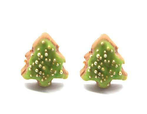 Keks Ohrstecker Tannenbaum Weihnachtsbaum niedliche Ohrringe handmade