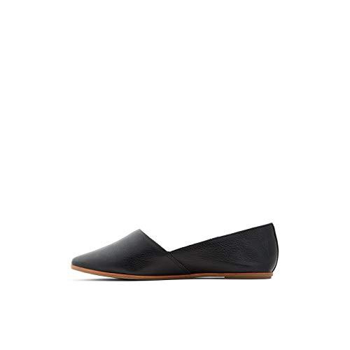 ALDO Women's Blanchette Slip-On Flat Loafer, Black, 9