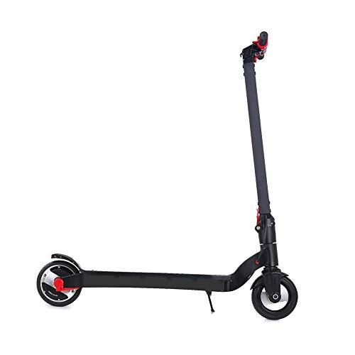 Lzww Mini Electrico Patinete 6.5 Pulgadas Bicicleta City Scooter Plegable para Niños y Adultos Negro Rojo,8ah