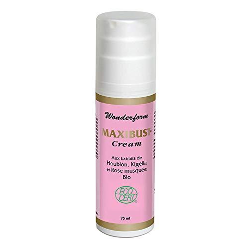 Nutriexpert • Maxibust Cream BIO • Stimule le raffermissement des seins, Améliore la tonicité de la peau • Flacon 75ml • Aux huiles essentielles • BIO