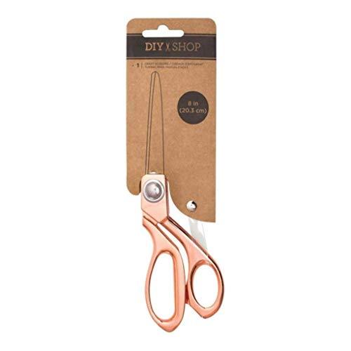 American Crafts DIY Shop 8 Inch Rose Gold Scissors