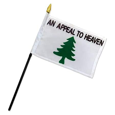 An Appeal To Heaven Realistic Pine Tree With Grass Washington Cruisers White 4x6 Flag Desk Set Plastic Table Stick Staff Gold Base
