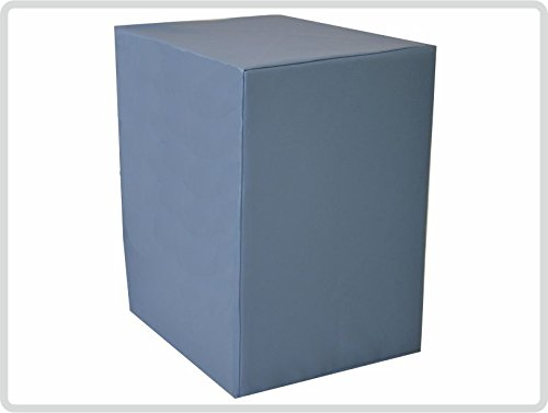 Bandscheibenwürfel mit Kunstlederbezug, blau - Lagerungswürfel Entlastungswürfel