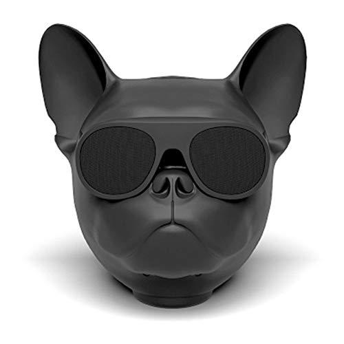 qiyanPortable Altavoz Bluetooth Inalámbrico Perro Mini de Dibujos Animados Táctil de Alta Fidelidad Al Aire Libre Teléfono Subwoofer de Audio Regalo Personalizado en Altavoces Portátiles Negro