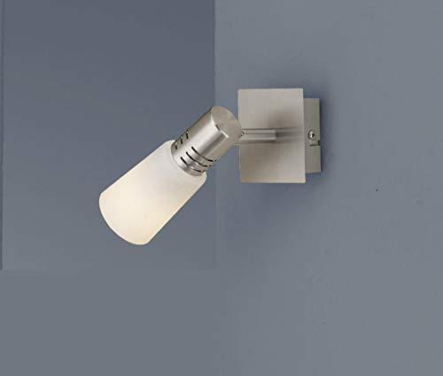 FLI Wandstrahler Ronja Silbergrau Weiß | Inklusive Leuchtmittel: E14 9W 504lm | 210111