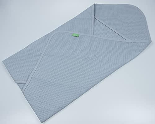 LULANDO Schlafsack Yeti für die Babyschale, 100% Waffelbaumwolle, Standard 100 by Oeko-Tex – Klasse I, Schlafsack für Babys, Waffelstruktur Decke Autoschale Babydecke (Grau)