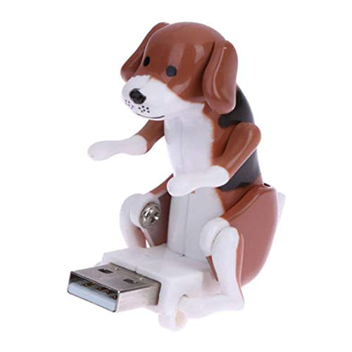 Swovo USB Hump Dog Funny Cute Humping Spot Dog Mini Portable Funny USB Pet Kids Toy Gift (Brown)