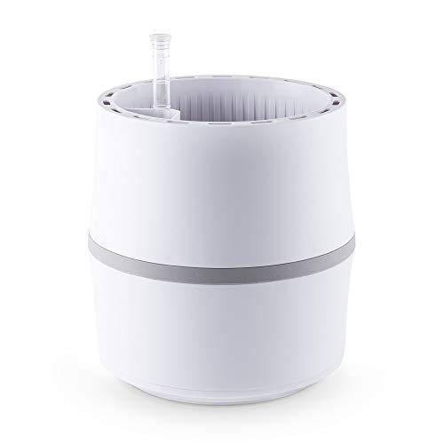 AIRY System S (Ø 22 cm) – Patentiertes System mit der Kraft der Pflanzen als natürlicher Luftreiniger und Luftbefeuchter für Innenräume (Antique White/Light Grey)