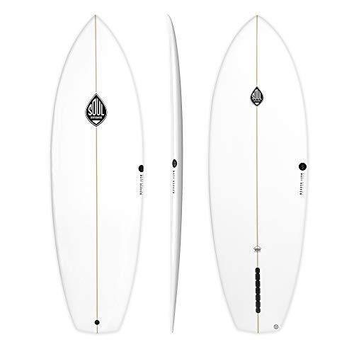 Soul Surfboards Middle Finger Tabla de Surf, Adultos Unisex, Blanco, 6'4