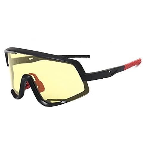 Gafas de Sol Deportivas polarizadas Gafas de Sol Protectoras de Ojos Deportivos Gafas de Sol de Ciclismo para Montar a Caballo Amarillo