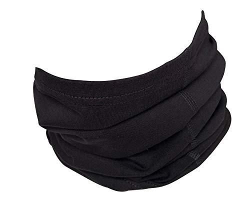 Halstuch aus Baumwolle, Multifunktionstuch, Schlauchtuch, Bandana, Geschenk für Frauen und Männer, Farbe/Design:Dunkelgrau