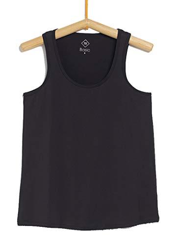 TEX - Camiseta de Deporte Tirantes para Mujer, Negro Neutro, S