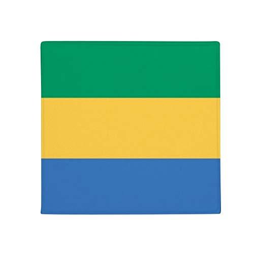 DIYthinker Gabón Bandera Nacional África país Antideslizante Alfombra Pet Cuadrado casa Cocina Puerta 80cm Regalo