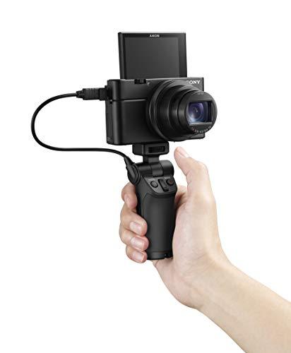 Sony DSC-RX100 VI Digital-/Kompaktkamera (20,1 Megapixel, 8,3x opt. Zoom, Touchscreen, 24 Bilder/Sek., 4K Video, Super Slow Motion, Zeiss Objektiv, Cyber-shot) schwarz und Handgriff