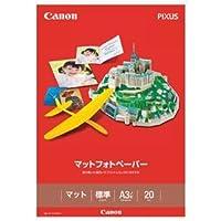 (まとめ)キヤノン マットフォトペーパー上質紙タイプ MP-101A3NOBI A3ノビ 7981A015 1冊(20枚) 【×3セット】