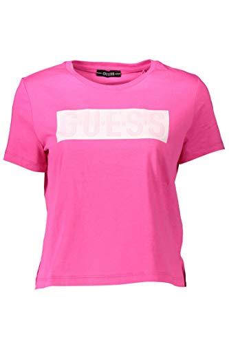 Guess Maglia Donna Manica Corta t-Shirt Fucsia Scollo Rotondo W1RI05JA900-G64E XL
