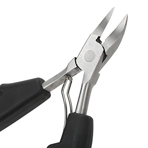 Cuticle Scissors, Practical To Use Toe Nail Clippers Ergonomic Design Convenient To Use for Toe for Home(black)