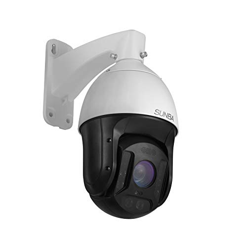 SUNBA 25X Optical Zoom 3MP IP PoE+ Outdoor PTZ Camera, Built-in Mic High Speed Security PTZ Dome, Long Range Infrared Night Vision up to 1000ft (601-D25X)