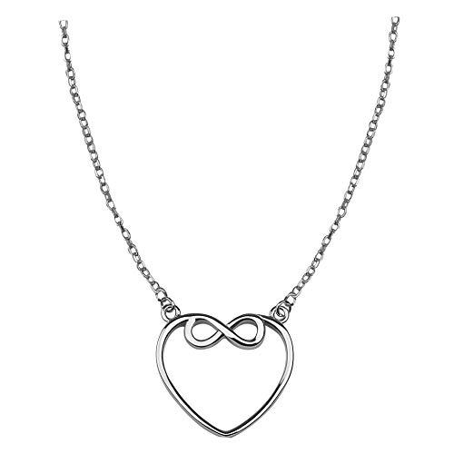 SOFIA MILANI Collar Mujer Cadena Colgante Corazón Plata de Ley 50148