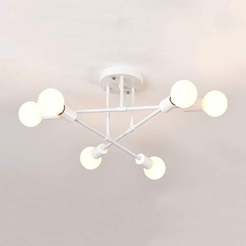 Zenghh Moderna Sputnik Classic 6 Capi Chandelier Lighting Revestimiento de oro Soporte Semillas de Nivel Hierro forjado Metal Techo Lámpara de Suspensión Art Accesorios para la Sala Dormitorio Estudio
