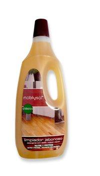 Moblysol Limpiador Jabonoso Clásico para madera, parqué/parquet y tarima Botellas de 1...